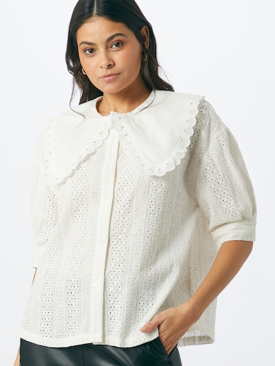 NUÉ NOTES Blouse 'MINELLA' in de kleur Wit, Modelweergave