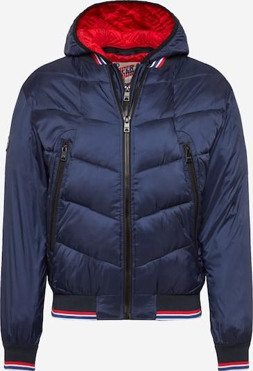 Superdry Jacke in marine / rot, Produktansicht