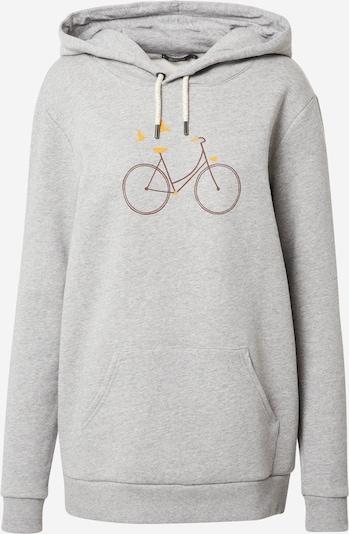 GREENBOMB Sweatshirt 'Bike Birds' in pueblo / safran / graumeliert, Produktansicht