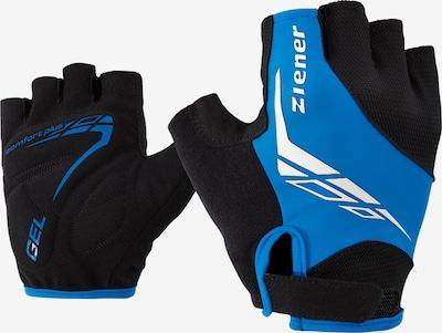 ZIENER Fahrrad-Handschuhe 'CENIZ' in blau / schwarz, Produktansicht