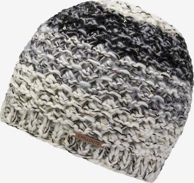 chillouts Bonnet 'Nikola' en beige / gris / noir, Vue avec produit