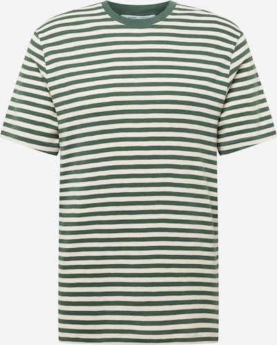 Samsoe Samsoe T-Shirt 'Ataro' in grün / naturweiß, Produktansicht
