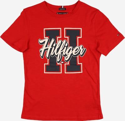 TOMMY HILFIGER Shirt 'VARSITY' in rot / schwarz / weiß, Produktansicht
