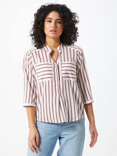 VERO MODA Bluse 'Vmerika' in weinrot / weiß, Modelansicht