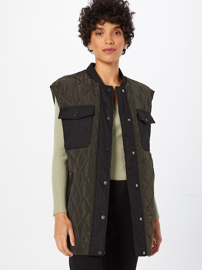 Liemenė 'Morgan' iš VERO MODA, spalva – rusvai žalia / juoda, Modelio vaizdas