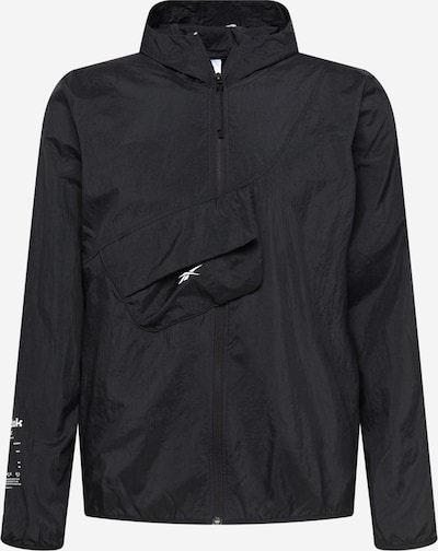 Reebok Sport Veste de sport en noir / blanc, Vue avec produit