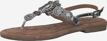 TAMARIS - Sandalias de dedo en plata