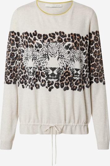 OUI Sweater in Brown / Mustard / Light grey / Black, Item view