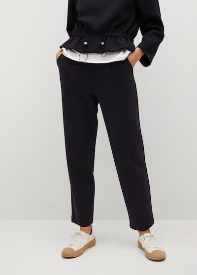 MANGO Hose 'Papier' in schwarz, Modelansicht