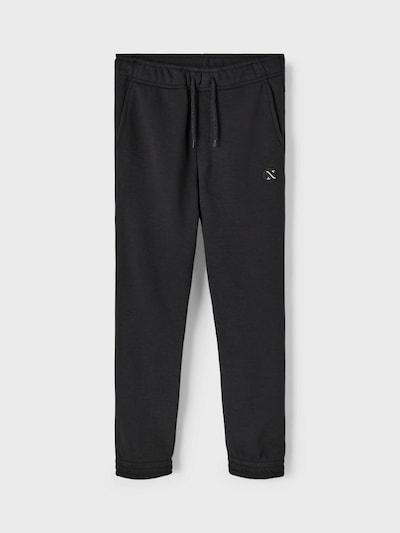 NAME IT Pantalon en noir: Vue de face