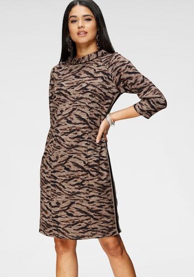 Betty Barclay Kleid in cappuccino / dunkelbraun / schwarz, Modelansicht