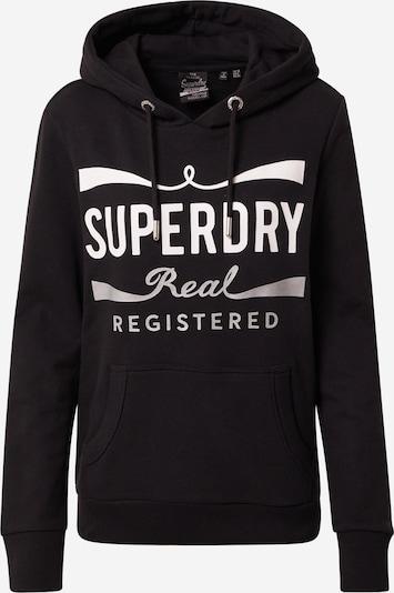 Superdry Sweatshirt 'MONO REAL ENTRY' in de kleur Zwart / Wit, Productweergave