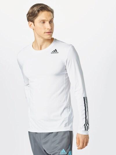 ADIDAS PERFORMANCE Sportshirt 'TF LS FT 3S' in weiß: Frontalansicht
