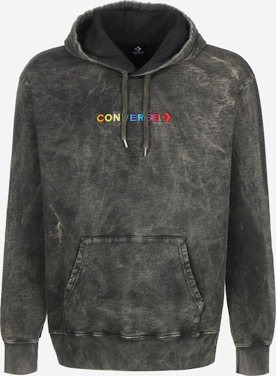 CONVERSE Sweatshirt 'Fleece Hood' in mischfarben / schwarz, Produktansicht
