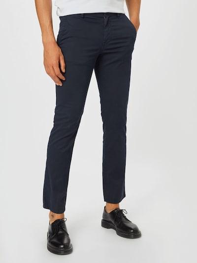 BOSS Casual Pantalon chino en bleu foncé, Vue avec modèle