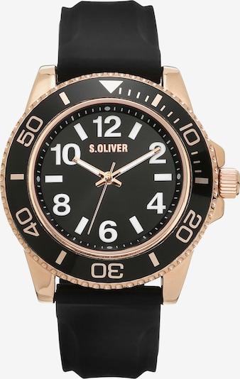 s.Oliver Uhr in rosegold / schwarz, Produktansicht