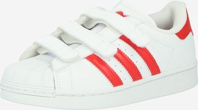 ADIDAS ORIGINALS Baskets 'Superstar' en rouge clair / blanc, Vue avec produit