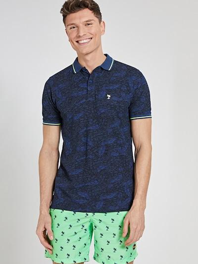 Shiwi Tričko - modrá / námornícka modrá / limetová: Pohľad spredu