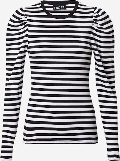 PIECES T-shirt 'Anna' en noir / blanc, Vue avec produit