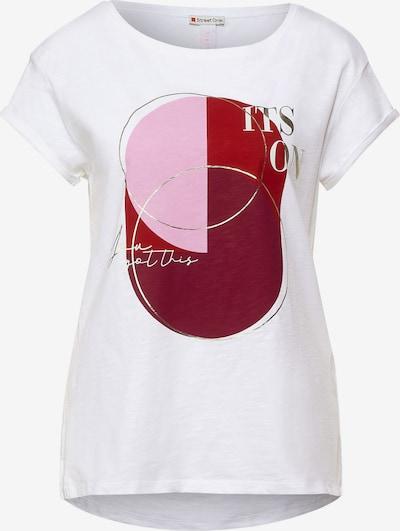 STREET ONE Camiseta en rosa / rojo sangre / rojo violáceo / blanco, Vista del producto