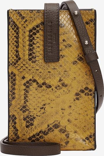Liebeskind Berlin Protection pour smartphone en brun foncé / jaune, Vue avec produit