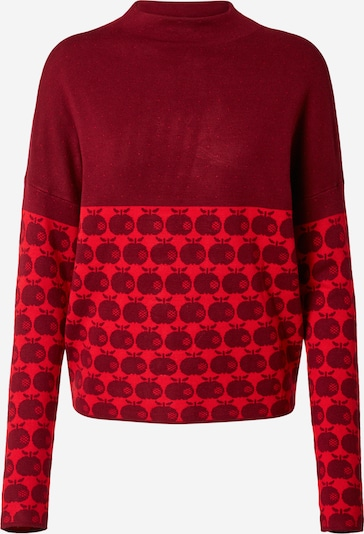 Blutsgeschwister Sweater 'Long Turtle' in Red / Burgundy, Item view
