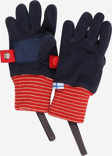 FINKID Gants 'SORMIKAS' en bleu marine / bleu ciel / rouge feu / blanc, Vue avec produit