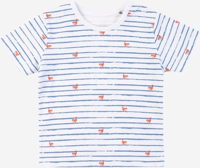 BELLYBUTTON T-Shirt in rauchblau / orange / weiß, Produktansicht