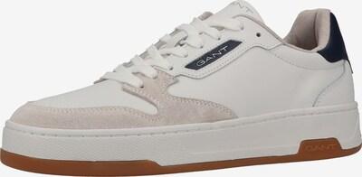 GANT Baskets basses en beige / blanc, Vue avec produit