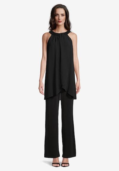 Vera Mont Jumpsuit mit Volant in schwarz, Modelansicht