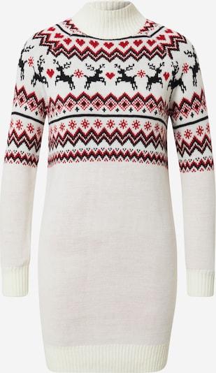 Fashion Union Kleid 'Reindeer' in rot / weiß, Produktansicht