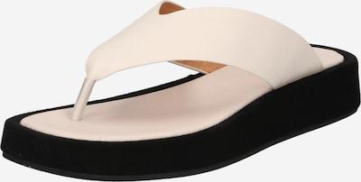Flip-flops 'Astrid' Shoe The Bear pe alb murdar, Vizualizare produs