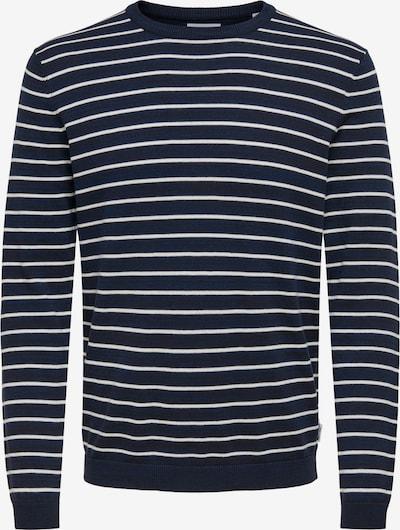 Only & Sons Trui 'Alex' in de kleur Navy / Wit, Productweergave