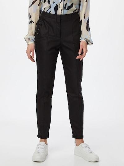 COMMA Pantalon en noir, Vue avec modèle