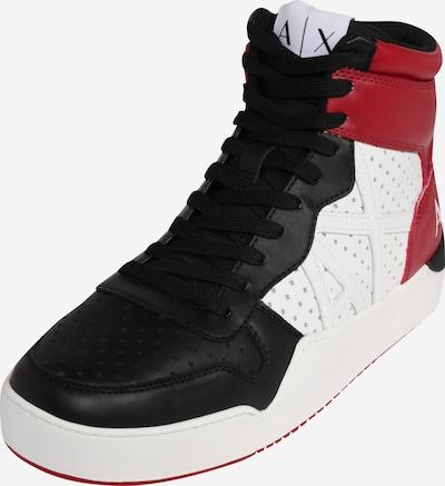piros / fekete / fehér ARMANI EXCHANGE Magas szárú edzőcipők, Termék nézet