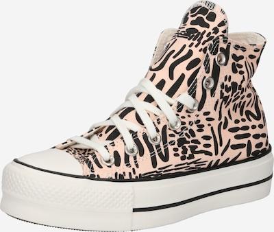 CONVERSE Zapatillas deportivas altas en melocotón / negro, Vista del producto