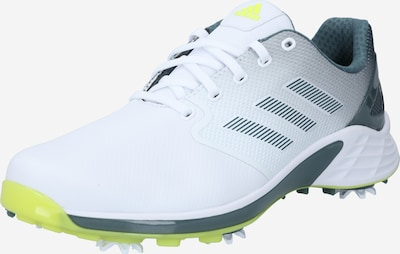 adidas Golf Chaussure de sport 'ZG 21' en citron vert / gris argenté / noir / blanc, Vue avec produit