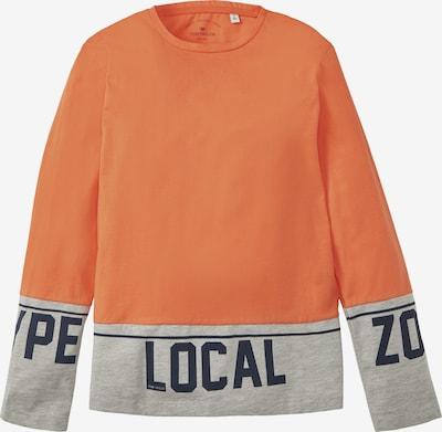 TOM TAILOR Shirt in grau / orange / schwarz, Produktansicht