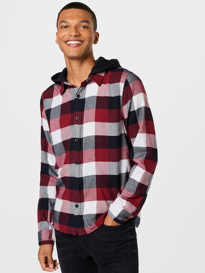 HOLLISTER Hemd in nachtblau / rot / weiß: Frontalansicht
