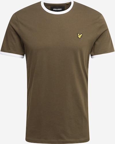 Lyle & Scott Shirt 'Ringer' in de kleur Donkerbruin / Geel / Zwart / Wit, Productweergave