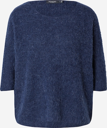 SOAKED IN LUXURY Pullover 'Tuesday' in Blau