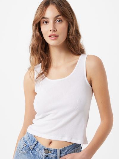 Palaidinė be rankovių iš NU-IN , spalva - balta, Modelio vaizdas