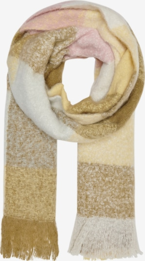 ONLY Scarf 'Jacky' in Light grey / Olive / Pink / White, Item view