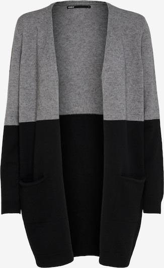 ONLY Strickjacke 'Queen' in graumeliert / schwarz, Produktansicht