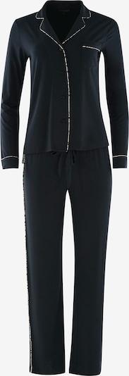 PJ Salvage Pyjama ' Cozy Casual ' en noir, Vue avec produit