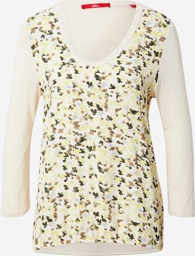 Maglietta s.Oliver di colore beige / opale / marrone chiaro / giallo pastello / grigio basalto, Visualizzazione prodotti