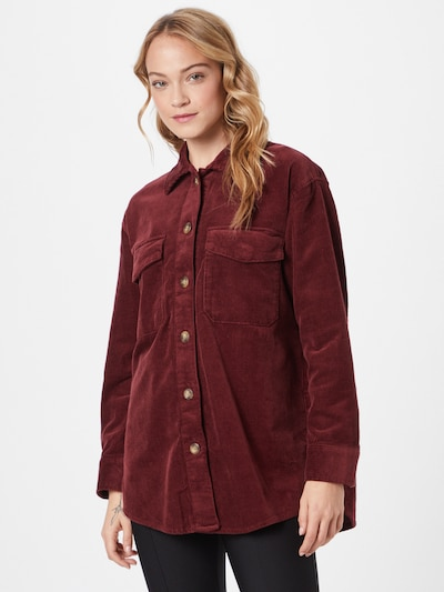 EDC BY ESPRIT Blouse in Burgundy, View model