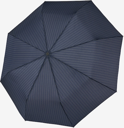 Doppler Regenschirm in blau / grau / schwarz, Produktansicht