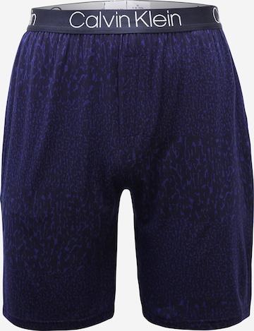 Calvin Klein Underwear Pidžaamapüksid 'Ultra Soft Modal', värv sinine