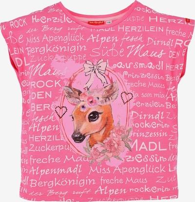 BONDI T-Shirt in braun / pink / rot / weiß, Produktansicht
